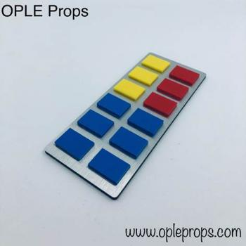 OPLE Props quality rank bar empire rebels series style Grand Admiral Thrawn cosplay opaque tiles admiral rankbar animated