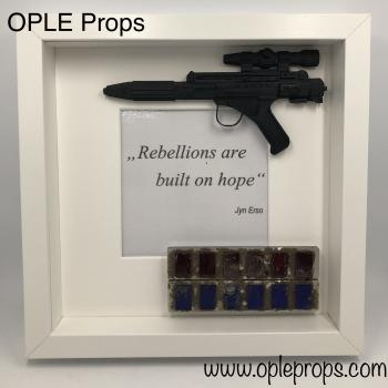 OPLE Arts picture frame Rebellion Jyn Erso Rebellions are built on hope Prop rankbar Weapon Blaster Model rogue one
