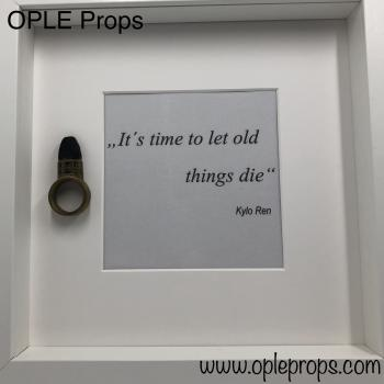 OPLE Arts picture frame Kylo Ren Snoke ring it is time to let old things die last jedi prop weapon Model episode 8