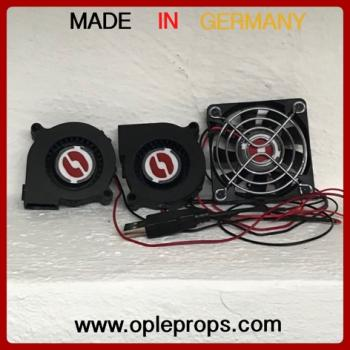 OPLE Props Fan System OPLE Odin advanced Triple fan with USB Helmet or Mask Cooling Device Costume ventilation