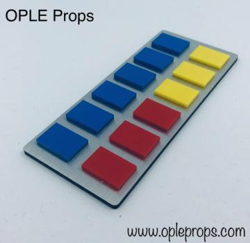 OPLE Props quality rank bar empire rebels series style Governor Arihnda Pryce Grand Moff cosplay opaque tiles admiral rankbar animated