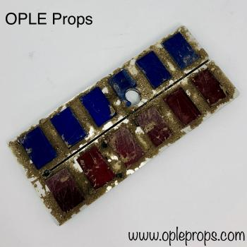 OPLE Props Service Mando Trophy from our Empire quality rank bars with Push Buttons Mandalorian weatherd Rankbar Cosplay Insignia plaque Empire