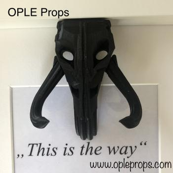 OPLE Arts picture frame Mandalorian Bounty Hunter This is the way Mythosaur Skull Prop rankbar Weapon Blaster Model