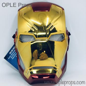 OPLE Props Rubies Iron Man Avengers Mask 339216 for kids with mounted lense cosplay childs kid infinity war endgame