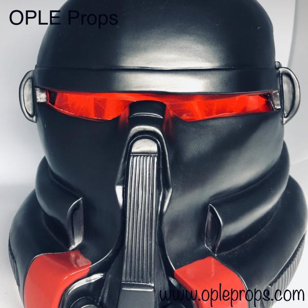 OPLE Props Purge Trooper Helmetlense with light masklense lighting red Jedi the fallen order Prop Visor Lense costume helmet 501st cosplay purgetrooper